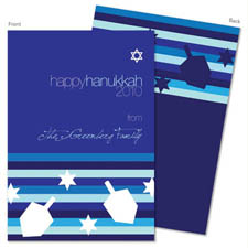 Spark & Spark Holiday Greeting Cards - Bold Stripes and Dreidels
