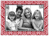 Stacy Claire Boyd - Holiday Photo Cards (Vintage Damask - Red)