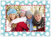 Stacy Claire Boyd - Holiday Photo Cards (Funky Dot - Aqua)