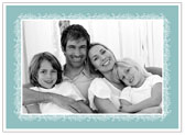 Stacy Claire Boyd - Holiday Photo Cards (Snowdrift - Aqua)