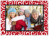 Stacy Claire Boyd - Holiday Photo Cards (Swirls & Whirls - Red)
