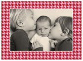 Stacy Claire Boyd - Holiday Photo Cards (Holiday Houndstooth - Red)