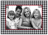 Stacy Claire Boyd - Holiday Photo Cards (Holiday Houndstooth - Black)