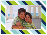 Stacy Claire Boyd - Holiday Photo Cards (Preppy Stripe - Blue)