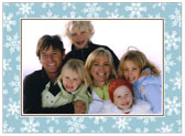 Stacy Claire Boyd - Holiday Photo Cards (Fanciful Snowflakes - Blue)