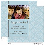 Take Note Designs Digital Holiday Photo Cards - Blue Pattern with Brown