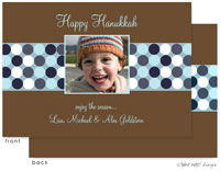 Take Note Designs Digital Holiday Photo Cards - Blue Multi Dots Band