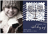 Take Note Designs Digital Holiday Photo Cards - Holiday Mail with Menorah