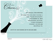 Take Note Designs Digital Holiday Invitations/Greeting Cards - Champagne Blast Horizontal