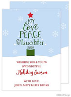 Take Note Designs Holiday Greeting Cards - Peace Love Laughter Holiday Tree
