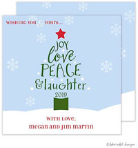 Take Note Designs Holiday Greeting Cards - Peace Love Joy Holiday Tree
