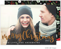 Take Note Designs Digital Holiday Photo Cards with Foil - Joyous Christmas Script