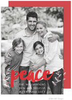 Take Note Designs Digital Holiday Photo Cards with Foil - Peace Vines