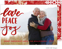 Take Note Designs Digital Holiday Photo Cards with Foil - Love Peace Joy