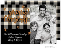 Take Note Designs Digital Holiday Photo Cards with Foil - Buffalo Plaid