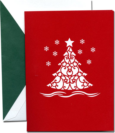 Lovepop Christmas Tree Red 3D Holiday Greeting Cards. by William Arthur ...