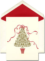 William Arthur Holiday Greeting Cards - Ribbon Tree