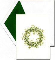 William Arthur Holiday Greeting Cards - Snowberry Wreath