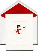 William Arthur Holiday Greeting Cards - Snowman And Friend