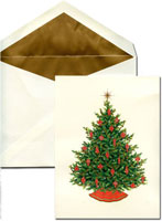 William Arthur Holiday Greeting Cards - Merry Christmas Tree