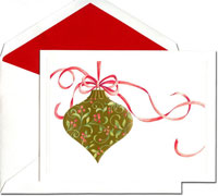 William Arthur Holiday Greeting Cards - Ribbon Ornament