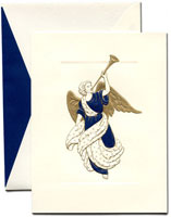 William Arthur Holiday Greeting Cards - Trumpeting Angel