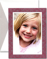 William Arthur Holiday Photo Mount Cards - Claret Filigree