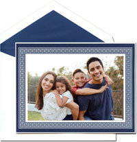 William Arthur Holiday Photo Mount Cards - Indigo Tracery