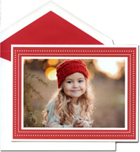 William Arthur Holiday Photo Mount Cards - Scarlet Glimmer