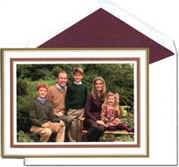 William Arthur Holiday Photo Mount Cards - Claret and Gold