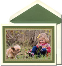 William Arthur Holiday Photo Mount Cards - Woodland and Sage