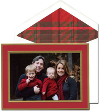 William Arthur Holiday Photo Mount Cards - Crimson and Gold