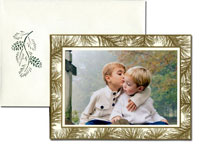William Arthur Holiday Photo Mount Cards - Golden Boughs