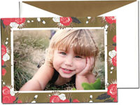 William Arthur Holiday Photo Mount Cards - Holiday Blossoms