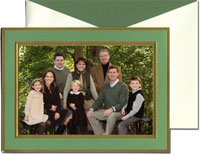 William Arthur Holiday Photo Mount Cards - Clover and Gold