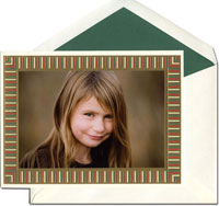 William Arthur Holiday Photo Mount Cards - Festive Color Block
