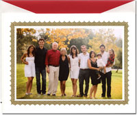 William Arthur Holiday Photo Mount Cards - Golden Lace