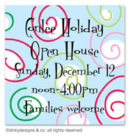 Dinky Designs Holiday Gift Enclosure Cards - Curly Swirly Dots - Blue (Holiday) [Finer]