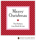 Stacy Claire Boyd - Holiday Calling Cards (Jolly Holiday - Red - Flat)