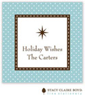 Stacy Claire Boyd - Holiday Calling Cards (Jolly Holiday - Blue - Flat)