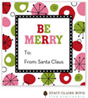 Stacy Claire Boyd - Holiday Calling Cards (Retro Wishes - Red - Folded)