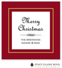 Stacy Claire Boyd - Holiday Calling Cards (Holiday Elegance - Red - Folded)