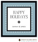 Stacy Claire Boyd - Holiday Calling Cards (Dashing Through the Snow - Blue - Folded)