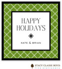 Stacy Claire Boyd - Holiday Calling Cards (Twin Trellis - Green - Flat)