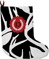 Lavender Belle Stocking (Abstract Deer-Black)