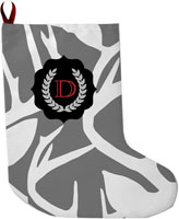 Lavender Belle Stocking (Abstract Deer-Gray)