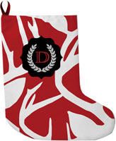 Lavender Belle Stocking (Abstract Deer-Red)