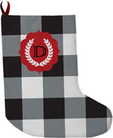 Lavender Belle Stocking (Buffalo Plaid)