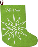 Lavender Belle Stocking (Star Damask)