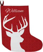 Lavender Belle Stocking (Deer Damask)